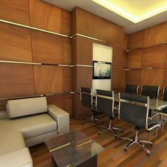 : Gedung perkantoran oleh Celcius Indonesia, Modern Kayu Lapis