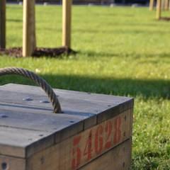 Obstkiste auf Wiese:  Veranstaltungsorte von Bender Freiraumplanung