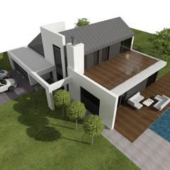 DOM ENERGOOSZCZĘDNY: styl , w kategorii Dom jednorodzinny zaprojektowany przez Plug Studio