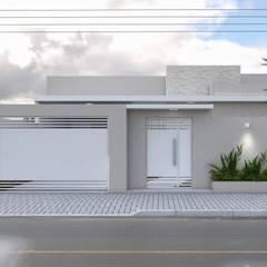 Projeto Arquitetônico Residencial: Casas  por Aline Bassani Arquitetura,Moderno
