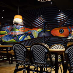 Dine in area:  Restoran by Kottagaris interior design consultant