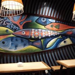 Wall mural:  Restoran by Kottagaris interior design consultant
