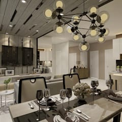 Vieloft apartment surabaya:  Venue by Kottagaris interior design consultant