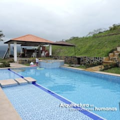 CASA ANAPOIMA: Piscinas de jardín de estilo  por DG ARQUITECTURA COLOMBIA