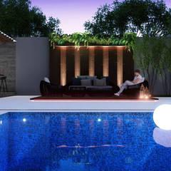 CASA N: Jardins de pedras  por PIZO Arquitetura e Design