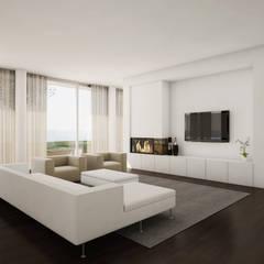 Moradia Unifamiliar: Salas de estar  por comSequência - Arquitectura & Design