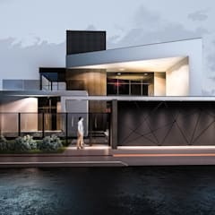 Casa L.K.Seko: Casas  por Welington Nogueira · Arquitetura, Urbanismo e Design
