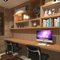 Apartamento Menta: Escritórios  por Quintal Arquitetura