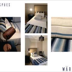 """""""Recauchutando"""": Dormitorios de estilo rústico por ESTUDIO WÄRME"""