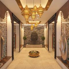 Pasillos y vestíbulos de estilo  por Vivitsu Design