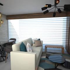 Sala/Comedor: Salas de estilo industrial por BAUMHAUS