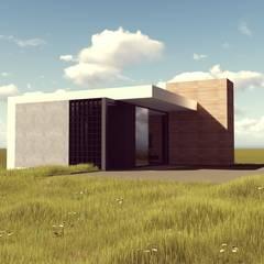 PROJETO PINHA CARMIN - Casa com 58m²: Casas  por FABIO LAVIN Arquitetura