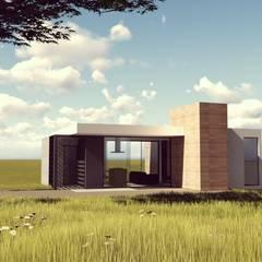 PROJETO PINHA CARMIN - Casa com 58m²: Closets minimalistas por FABIO LAVIN Arquitetura