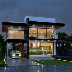 งานออกแบบบ้านสองชั้น:  บ้านเดี่ยว by BK Archstudio