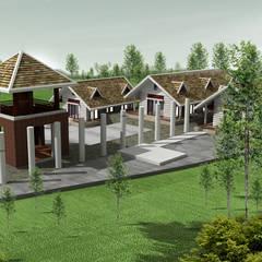 Cabañas de estilo  por Công ty cổ phần Kiến trúc và xây dựng AST
