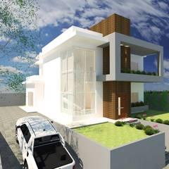 Casa Moderna: Casas familiares  por Bee arquitetura e design