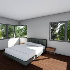 Casa en Barrio Pizzurno - Rafaela - Santa Fe: Dormitorios de estilo  por Arquitecto Leandro Puy