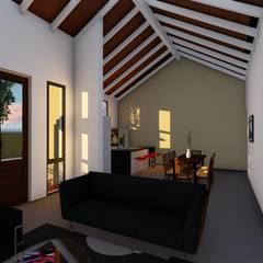Casa en Susana - Susana - Santa Fe - Argentina: Livings de estilo  por Arquitecto Leandro Puy,Rural