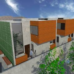 Departamentos  FM: Casas multifamiliares de estilo  por ..arquitecturería taller..