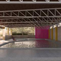 Alberca CMA: Albercas de jardín de estilo  por ..arquitecturería taller..
