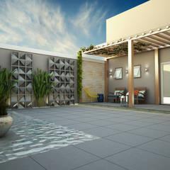 Estanques de jardín de estilo  por Treez Arquitetura+Engenharia