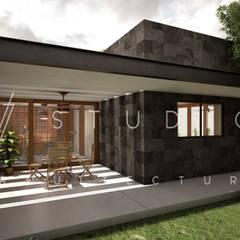 Desayunador: Jardines de piedra de estilo  por [V. Studio] Arquitectura