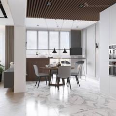Двухкомнатная квартира в современном стиле: Встроенные кухни в . Автор – Design interior OLGA MUDRYAKOVA