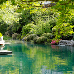 Estanques de jardín de estilo  por Jürgen Kirchner Wasser + Garten