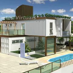 Casa Container: Casas pré-fabricadas  por VParques Arquitetura e Serviços