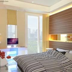 Guest Bedroom - Apartment Sudirman Area:  Kamar Tidur by Vaastu Arsitektur Studio