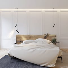 А16 House : Спальни в . Автор – Студия Семена Вишнякова '1618 ROOM'