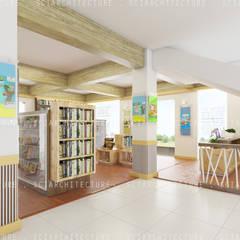 Area Kasir dan Display Buku:  Kantor & toko by SCIArchitecture