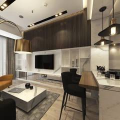 Living Room :  Ruang Keluarga by Lines & Lumber