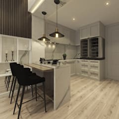 Studio Apartment, Sandalwood Springhill :  Dapur by Lines & Lumber