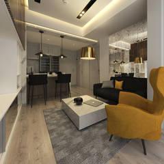 Studio Apartment, Sandalwood Springhill :  Ruang Keluarga by Lines & Lumber