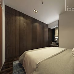 Wood Panelling di Kamar Tidur Master:  Kamar Tidur by Lines & Lumber