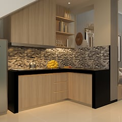 Kitchen:  Dapur built in by Vinch Interior