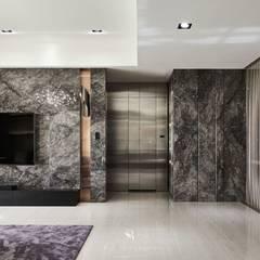 璀璨.脈脈|Van der Vein:  牆面 by 理絲室內設計有限公司 Ris Interior Design Co., Ltd.