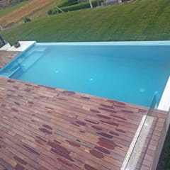 Infinity pool by AD+ arquitectura, Modern لکڑی Wood effect