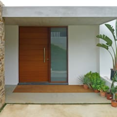 Front doors by AD+ arquitectura, Modern Wood Wood effect