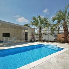 埼玉県 個人邸  (5.0m×3.0m レクタングル形状): プールカンパニー 株式会社プロスパーデザイン プール事業部が手掛けたビーチハウス・クルーザーです。,モダン