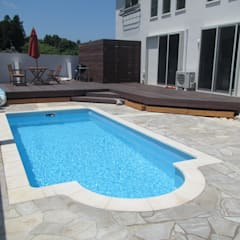 千葉県 個人H邸  (5.0m×2.5m レクタングル形状): プールカンパニー 株式会社プロスパーデザイン プール事業部が手掛けたビーチハウス・クルーザーです。,モダン
