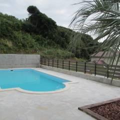 千葉県 個人T邸  (8.0m×4.0m レクタングル形状): プールカンパニー 株式会社プロスパーデザイン プール事業部が手掛けたビーチハウス・クルーザーです。,モダン