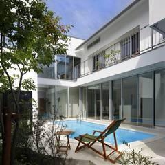 東京都 個人邸  (6.0m×2.25m レクタングル形状): プールカンパニー 株式会社プロスパーデザイン プール事業部が手掛けたビーチハウス・クルーザーです。,モダン