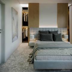 Projekt domu HomeKONCEPT-44: styl , w kategorii Sypialnia zaprojektowany przez HomeKONCEPT   Projekty Domów Nowoczesnych