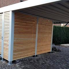 od Carport-Schmiede GmbH & Co. KG - Hersteller für Metallcarports und Stahlcarports auf Maß Nowoczesny Żelazo/Stal