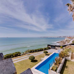 ​Luxuosa Villa S. Pedro Estoril / Lisboa - Luxury Villa S. Pedro Estoril / Lisbon: Terraços  por Ivo Santos Multimédia