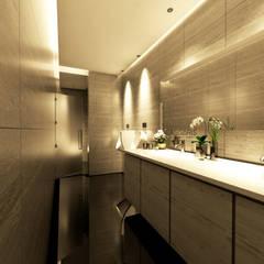 Public Toilet Apartment: Kamar Mandi oleh ASGARIS studio,