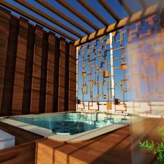 Spa de estilo  por MB Mateus Barreto - Arquitetura e Urbanismo