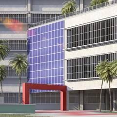 EESC - Escola de Engenharia Elétrica e Computação Escolas modernas por VERRONI arquitetos associados Moderno